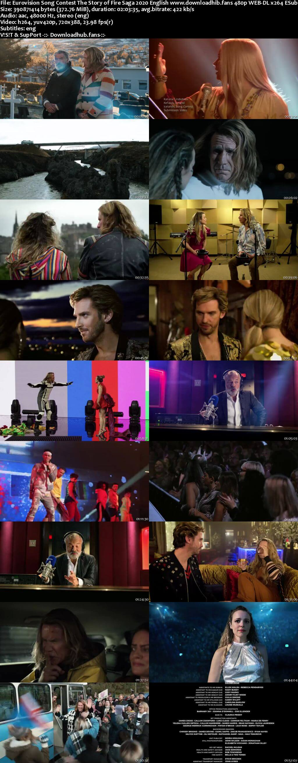 Eurovision Song Contest The Story of Fire Saga 2020 English 350MB NF Web-DL 480p MSubs