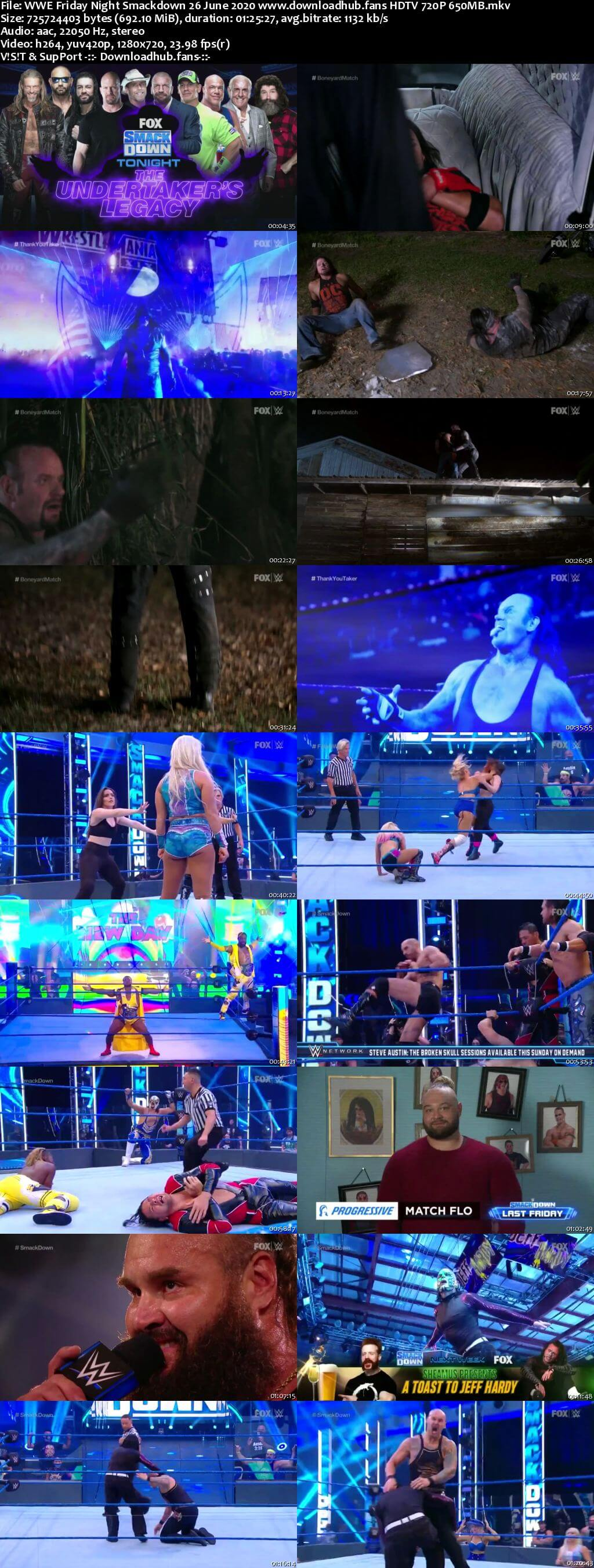 WWE Friday Night Smackdown 26th June 2020 720p 300MB HDTV 480p