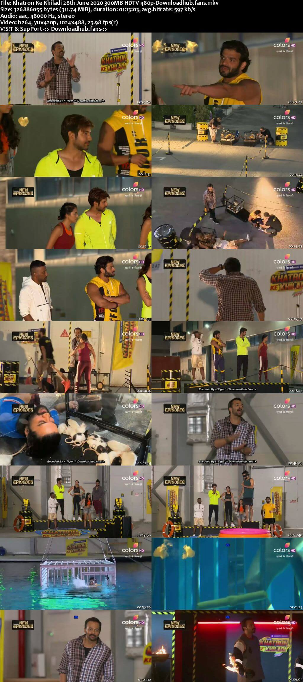 Khatron Ke Khiladi 28th June 2020 300MB HDTV 480p