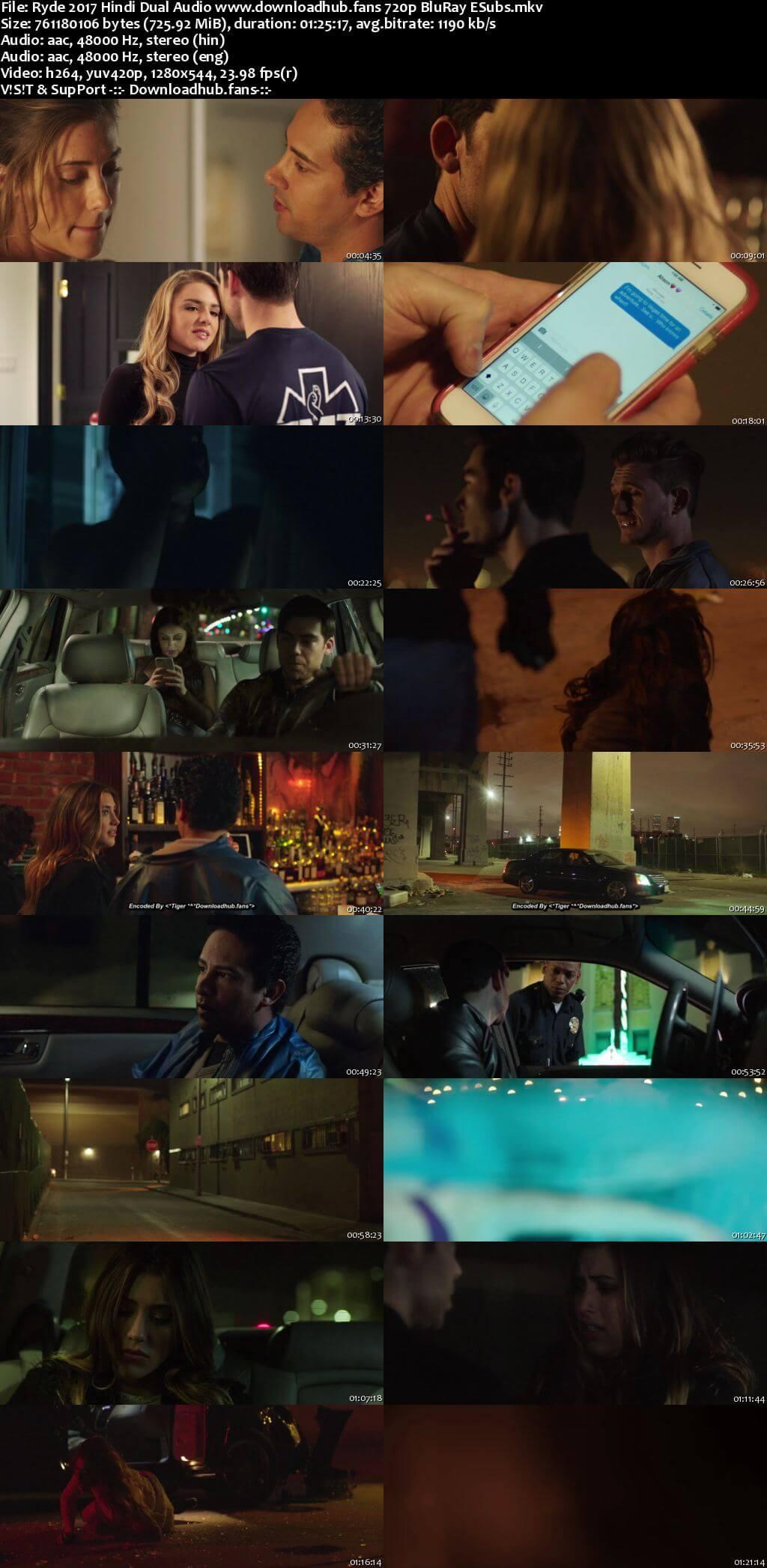 Ryde 2017 Hindi Dual Audio 720p BluRay ESubs