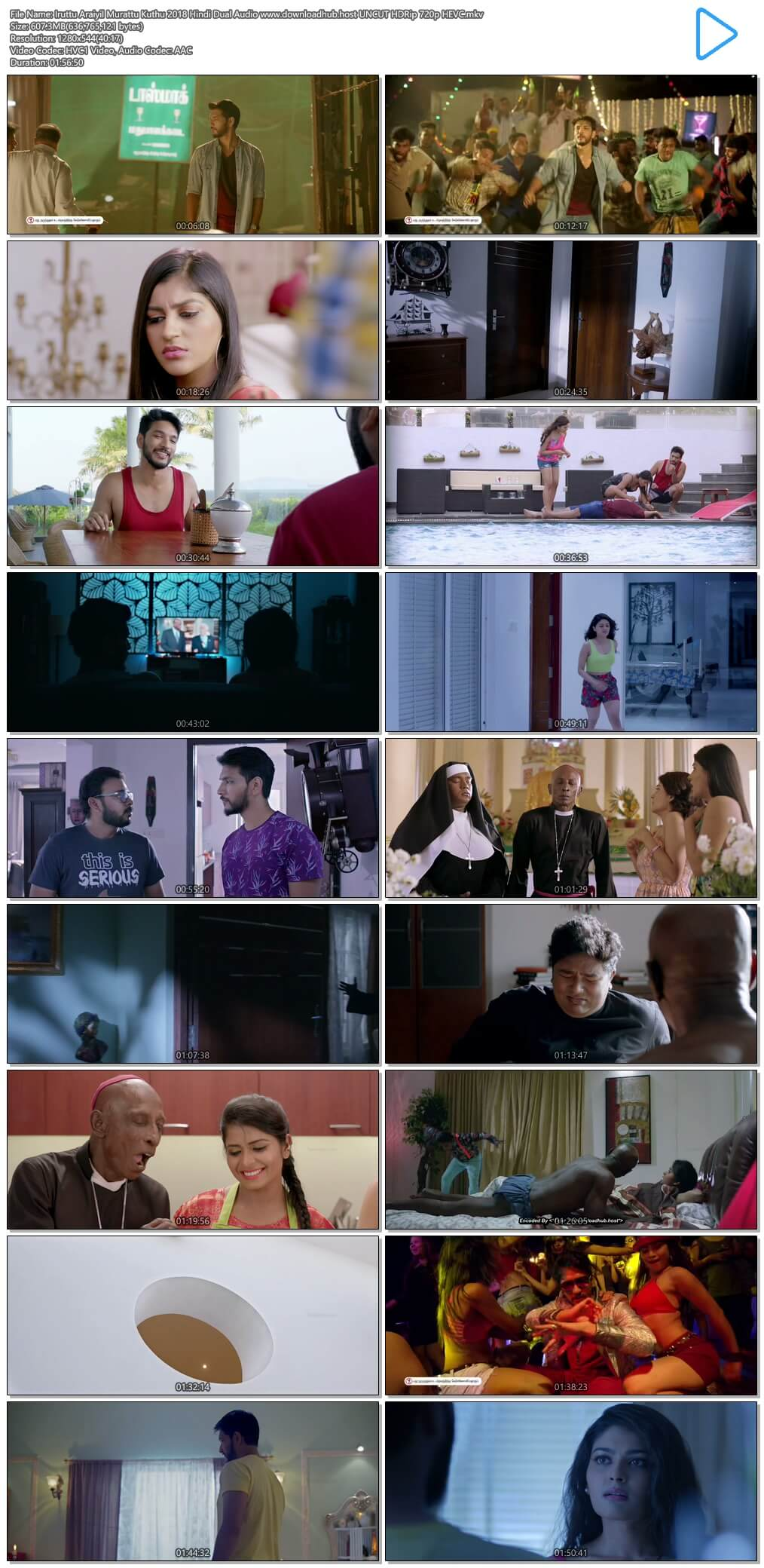 Iruttu Araiyil Murattu Kuthu 2018 Hindi Dual Audio 600MB UNCUT HDRip 720p HEVC
