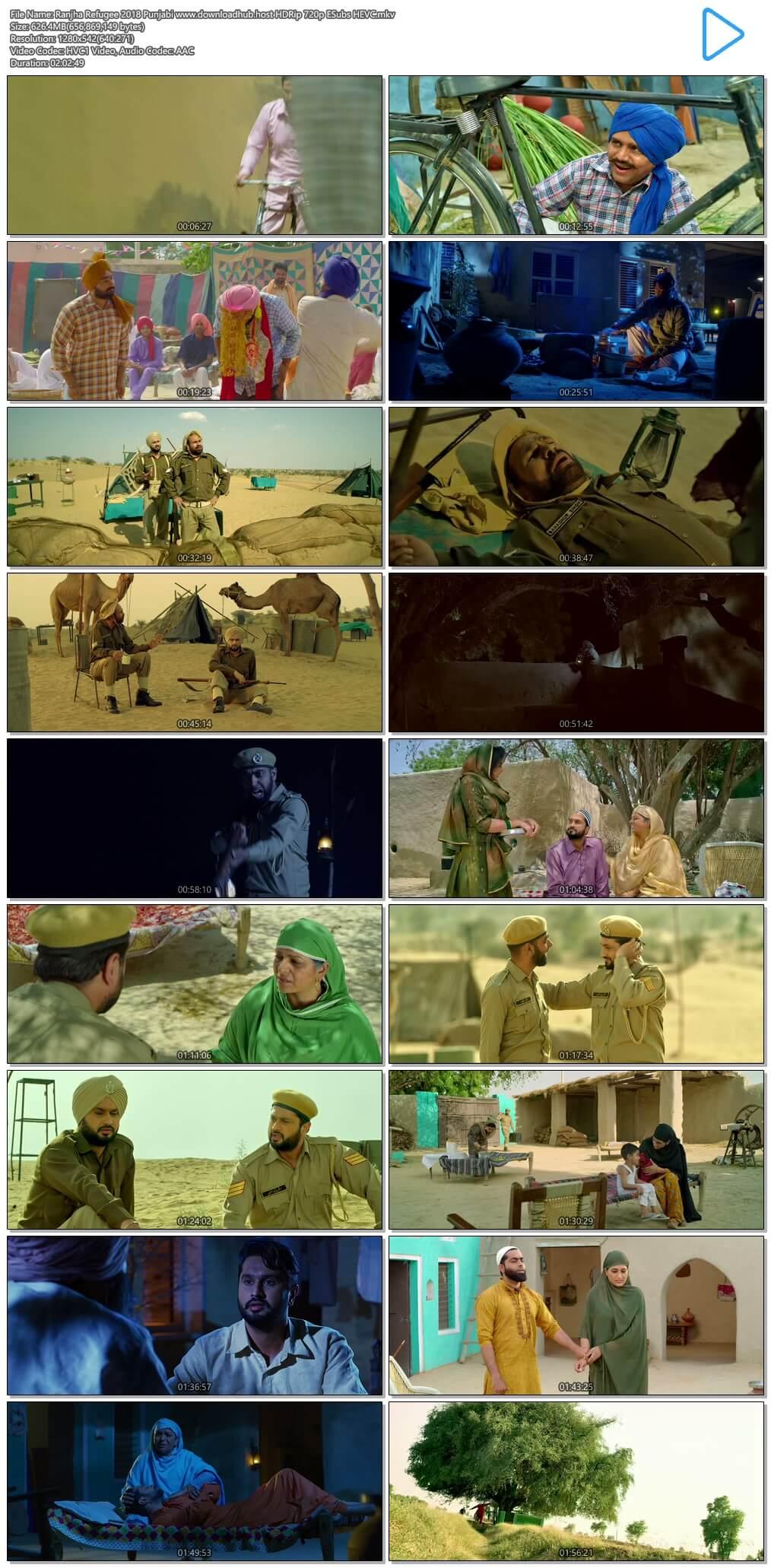 Ranjha Refugee 2018 Punjabi 600MB HDRip 720p ESubs HEVC