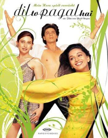 Dil To Pagal Hai 1997 Hindi 850MB BluRay 720p ESubs HEVC