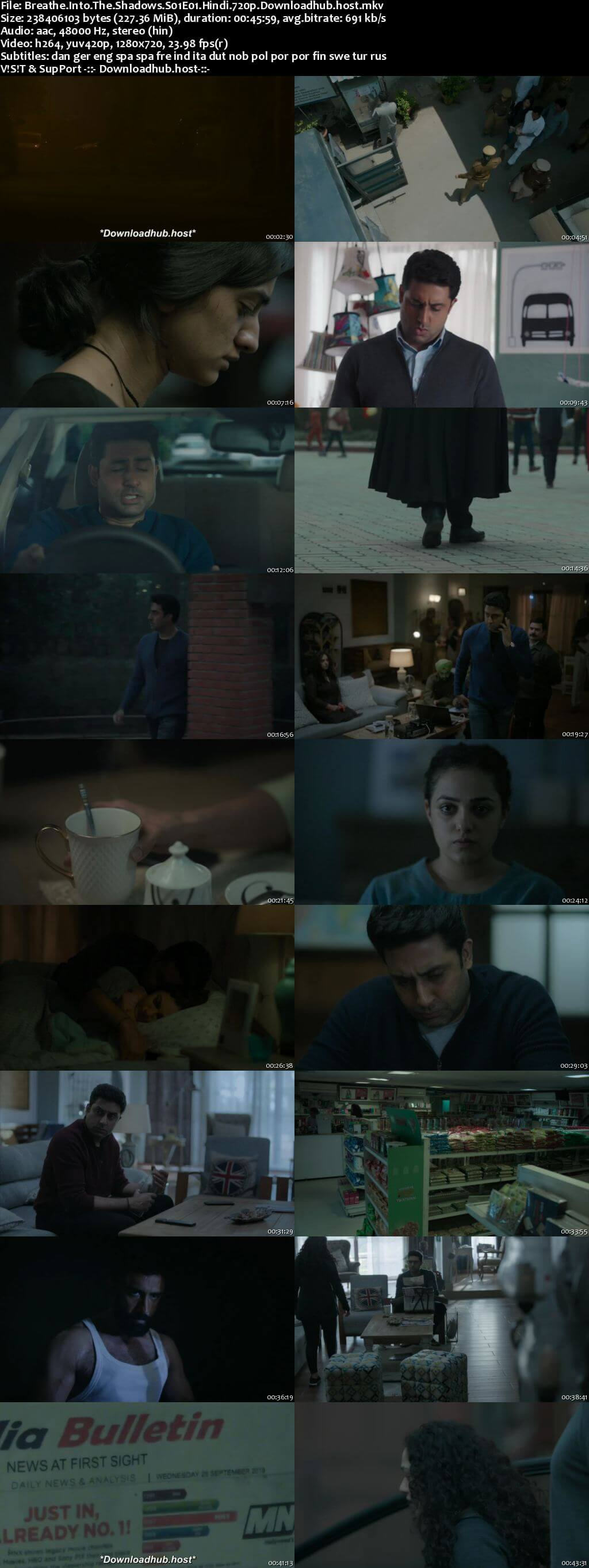 Breathe Into the Shadows 2020 Hindi Season 01 Complete 720p HDRip MSubs