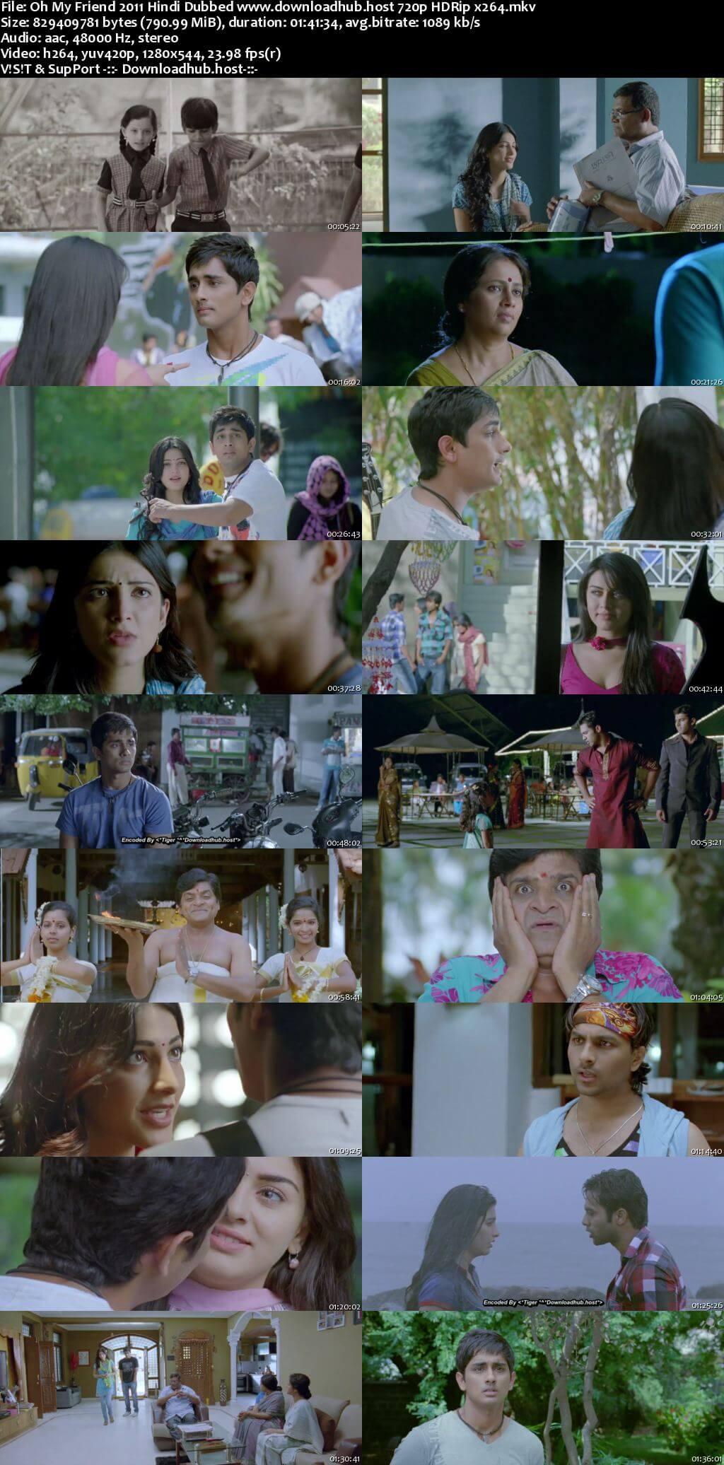 Oh My Friend 2011 Hindi Dubbed 720p HDRip x264