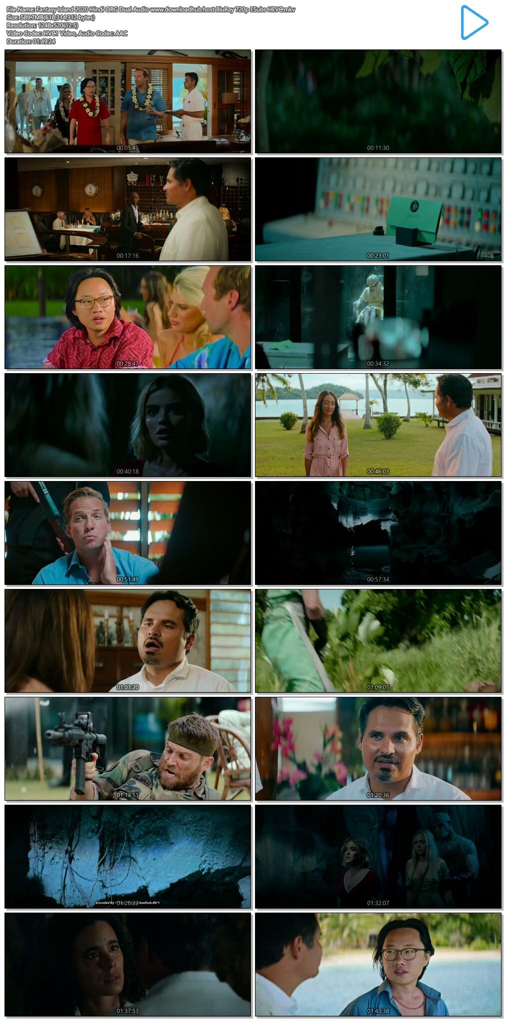 Fantasy Island 2020 Hindi ORG Dual Audio 600MB BluRay 720p ESubs HEVC
