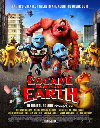 Escape from Planet Earth 2013 Hindi Dual Audio BRRip Full Movie 480p Download