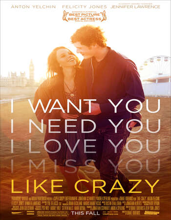 Like Crazy 2011 Hindi Dual Audio 300MB BluRay 480p ESubs