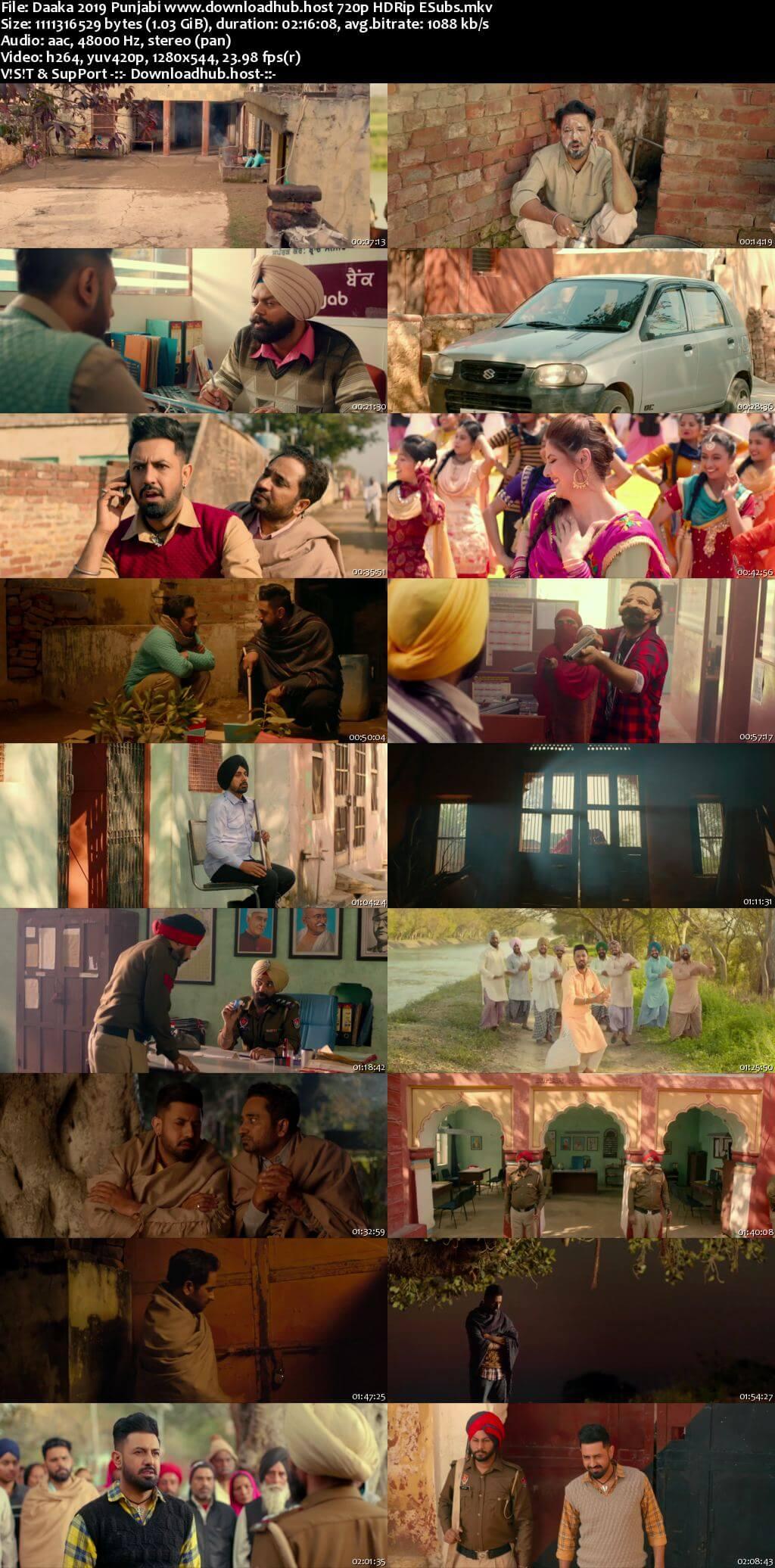 Daaka 2019 Punjabi 720p HDRip ESubs