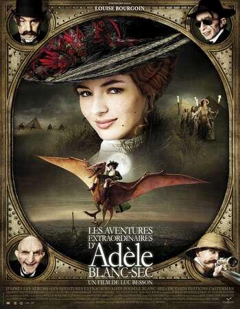 The Extraordinary Adventures of Adèle Blanc-Sec 2010 Hindi Dual Audio 350MB BluRay 480p