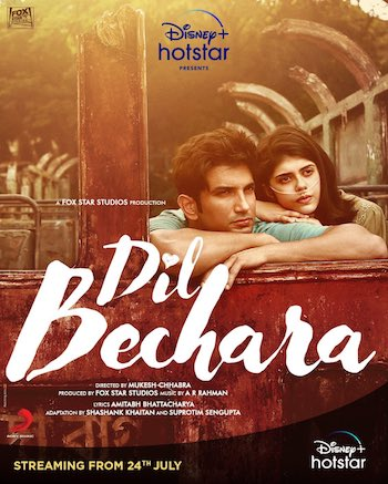 Dil Bechara 2020 Hindi 720p WEB-DL 800mb