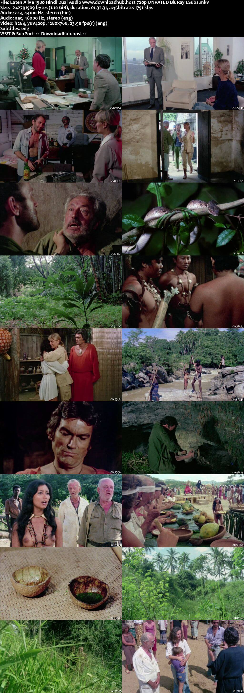 Eaten Alive 1980 Hindi Dual Audio 720p UNRATED BluRay ESubs