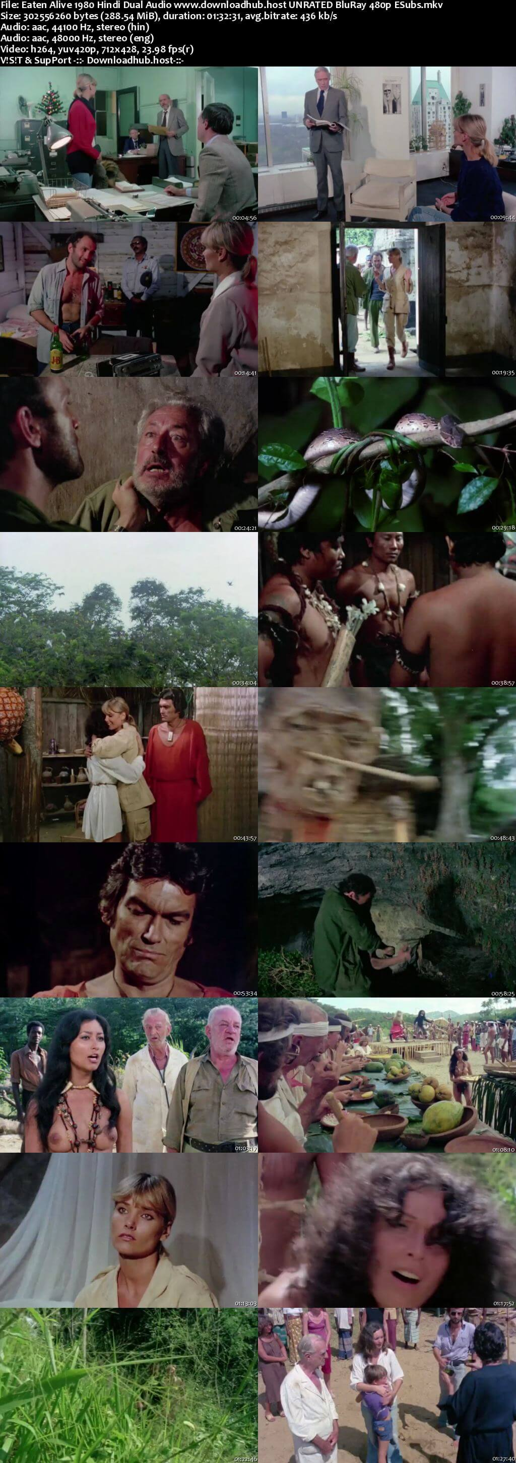 Eaten Alive 1980 Hindi Dual Audio 280MB UNRATED BluRay 480p ESubs