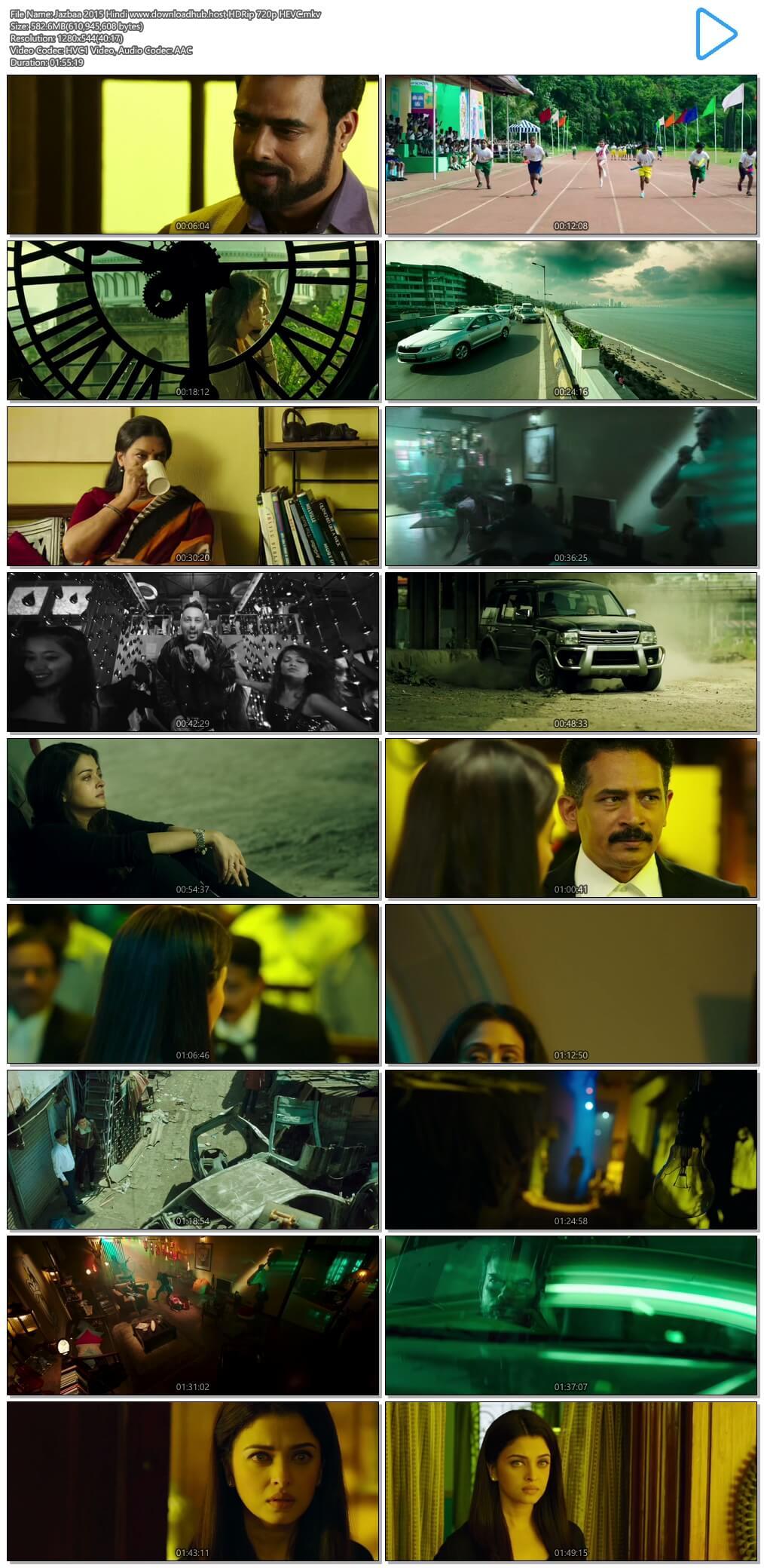 Jazbaa 2015 Hindi 550MB HDRip 720p HEVC