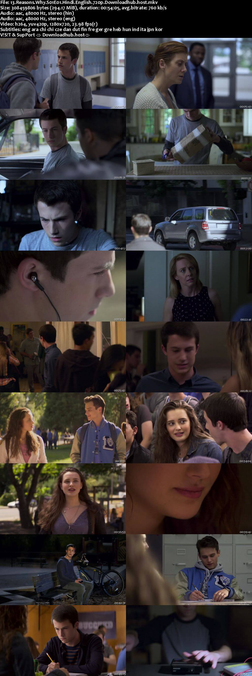 13 Reasons Why S01 Complete Hindi Dual Audio 720p Web-DL MSubs