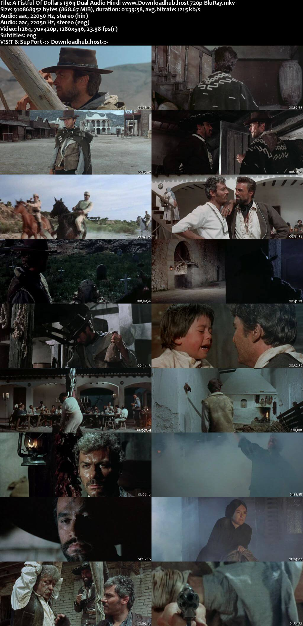 A Fistful of Dollars 1964 Hindi Dual Audio 720p BluRay ESubs
