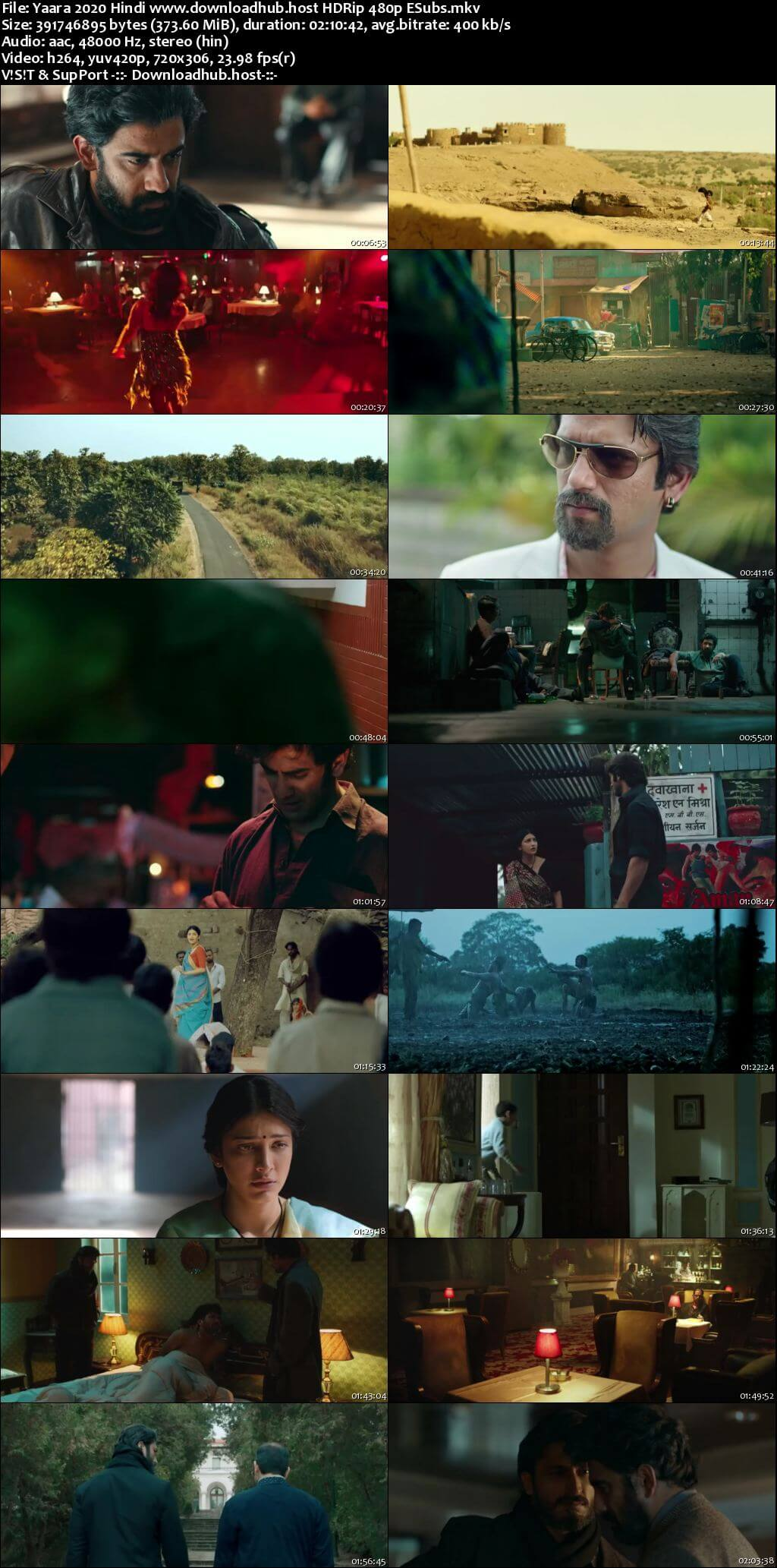 Yaara 2020 Hindi 350MB HDRip 480p ESubs