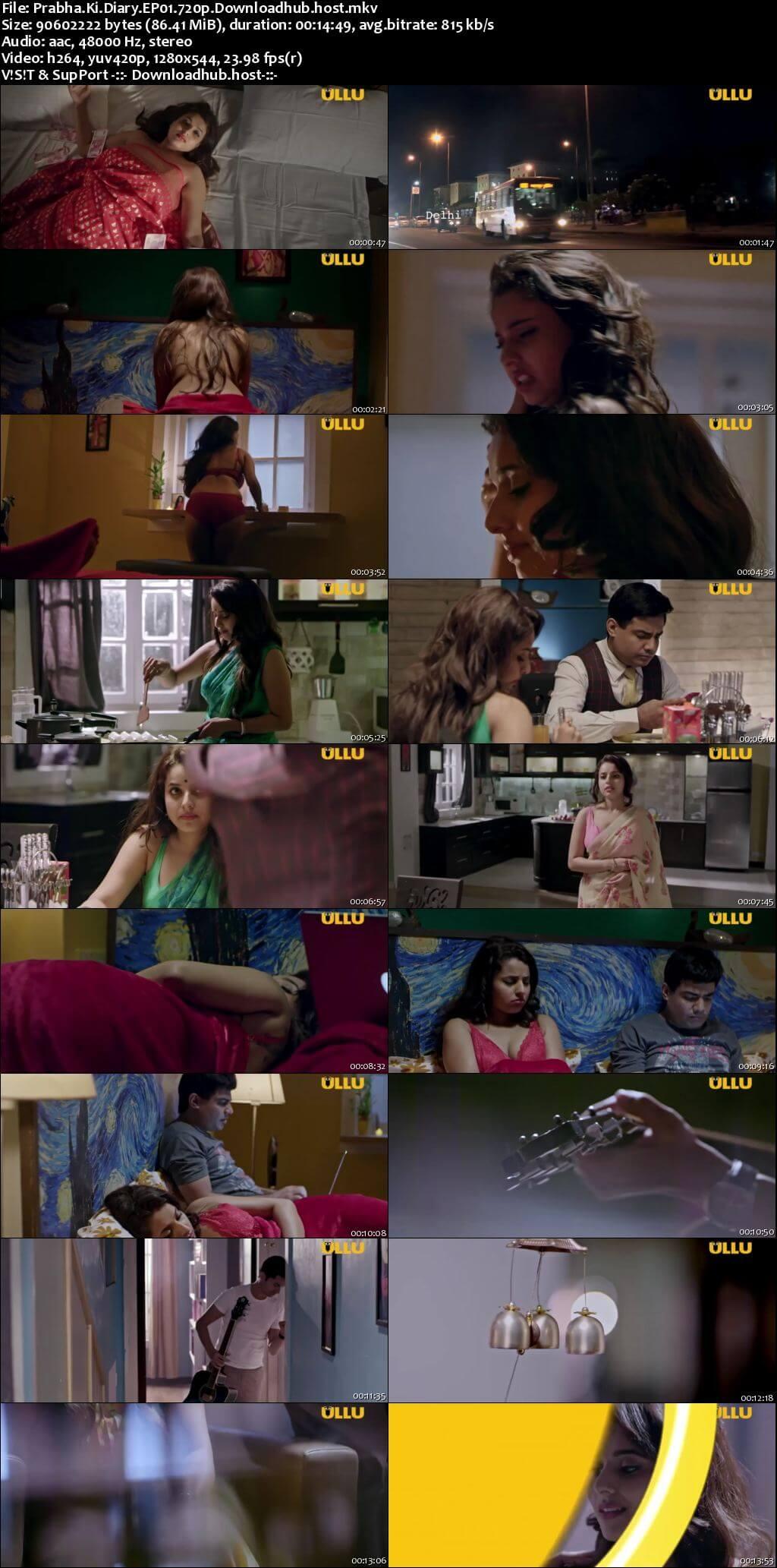 Prabha Ki Diary 2020 Hindi S01 ULLU WEB Series 720p HDRip x264