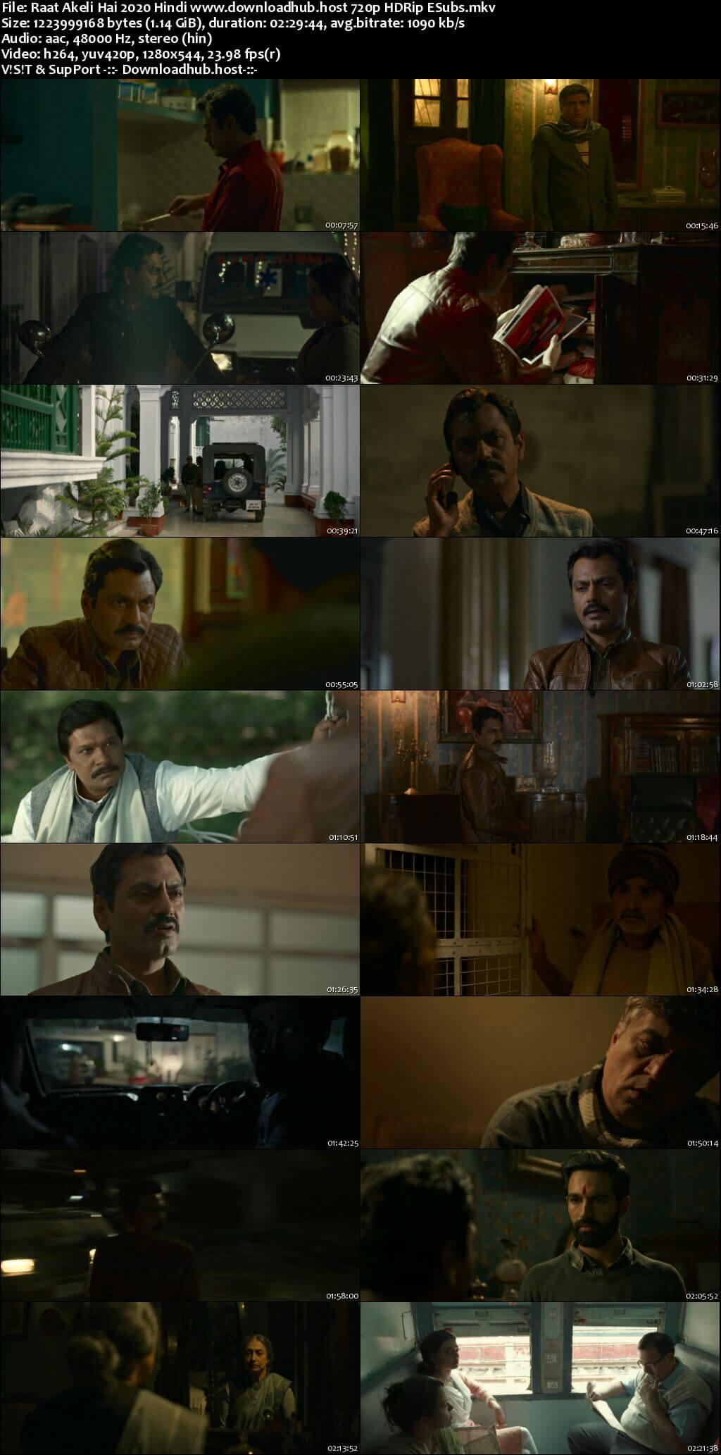 Raat Akeli Hai 2020 Hindi 720p HDRip ESubs