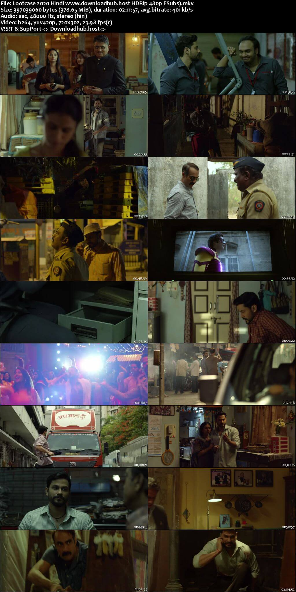 Lootcase 2020 Hindi 350MB HDRip 480p ESubs