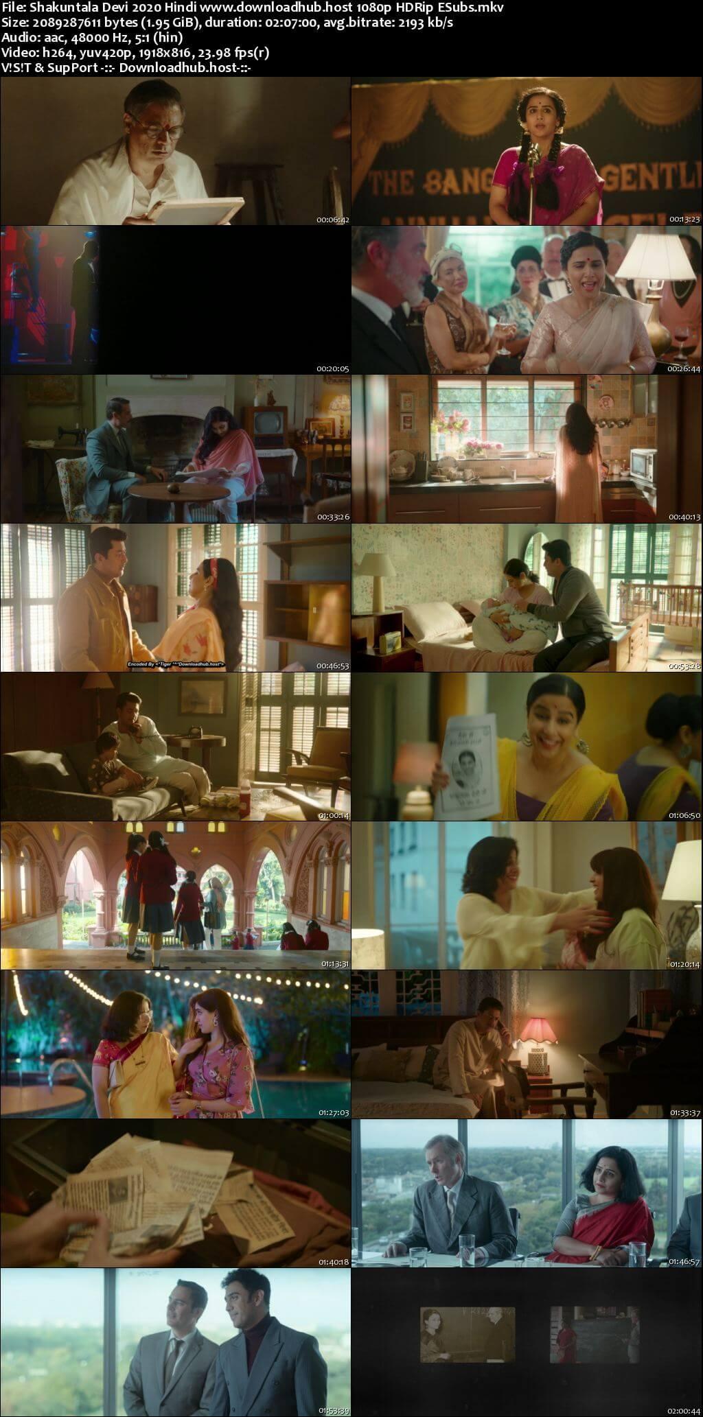 Shakuntala Devi 2020 Hindi 1080p HDRip ESubs