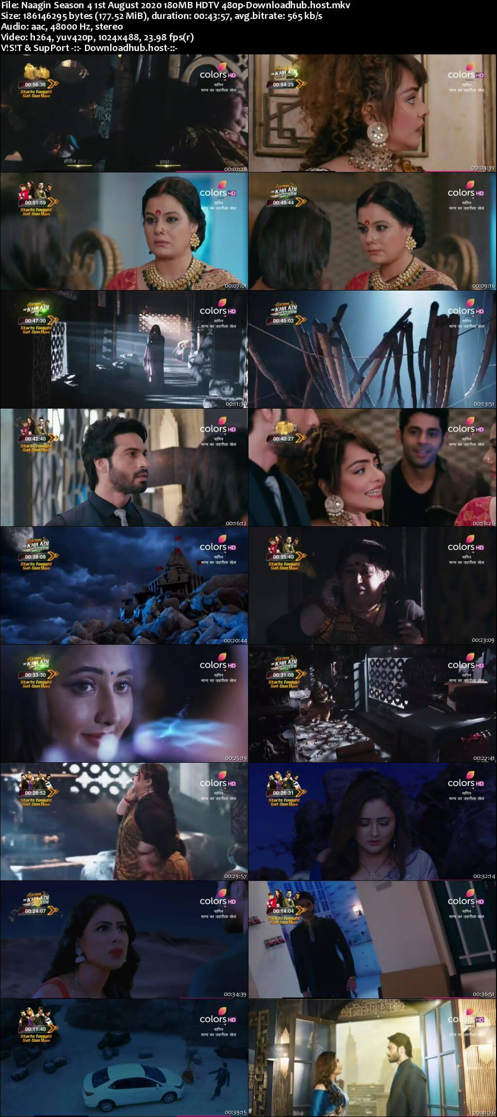 Naagin Season 4 1st August 2020 180MB HDTV 480p