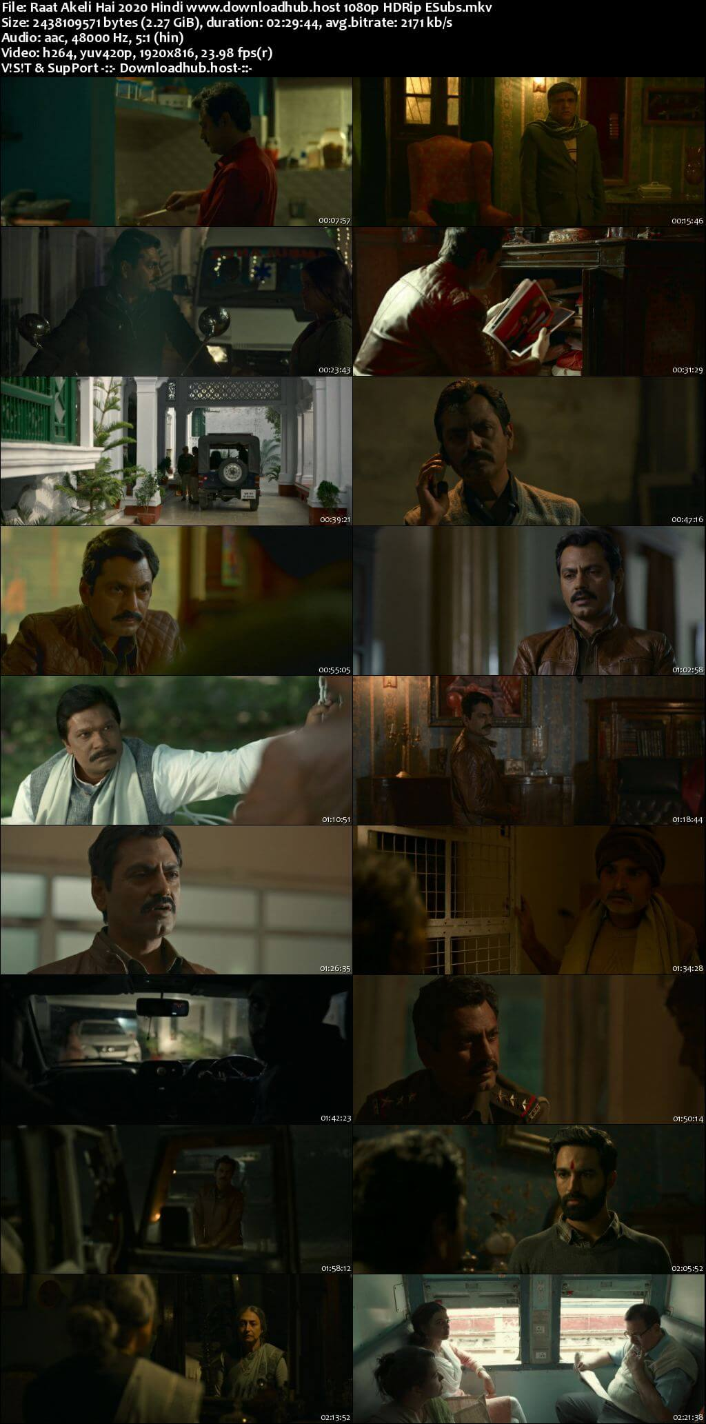 Raat Akeli Hai 2020 Hindi 1080p HDRip ESubs