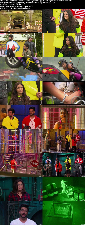 Khatron Ke Khiladi Made in India 01 August 2020 Episode 01 HDTV 480p