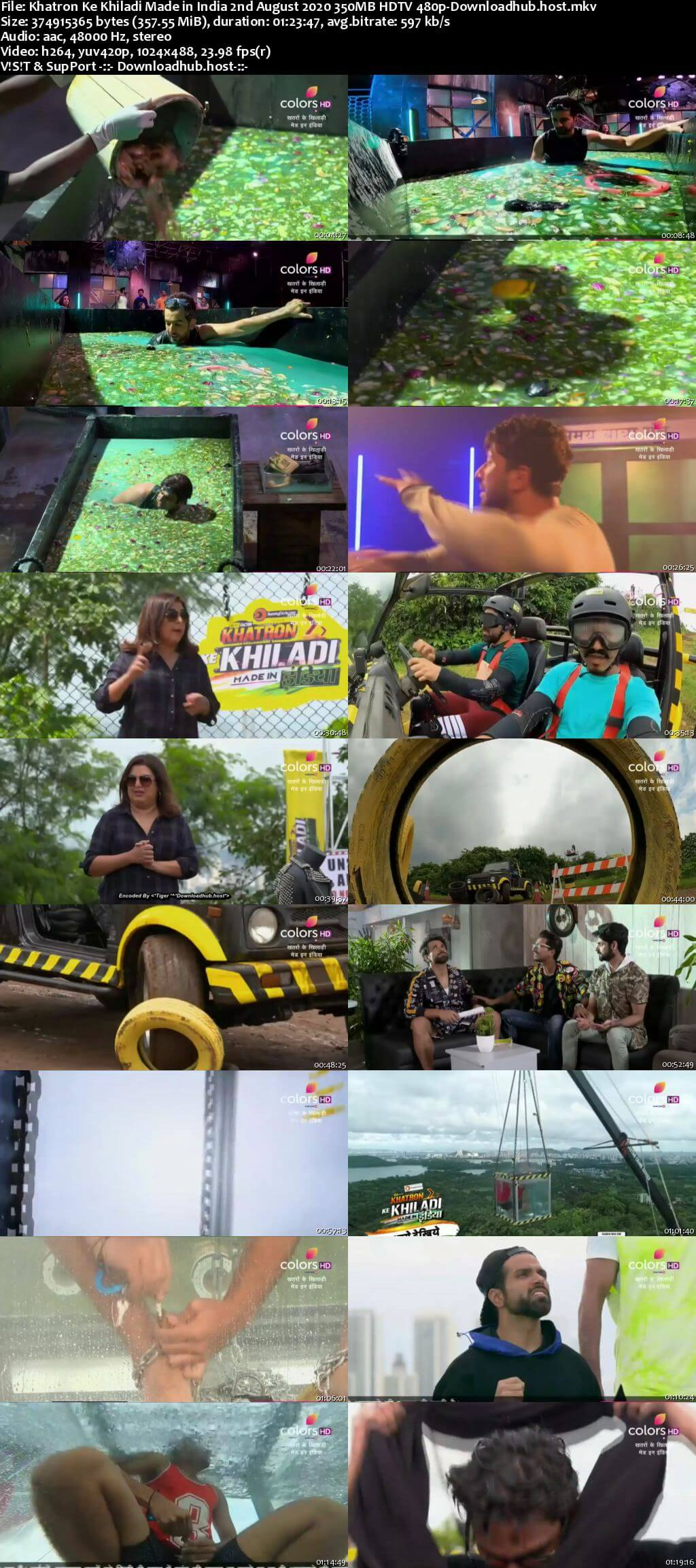 Khatron Ke Khiladi Made in India 02 August 2020 Episode 02 HDTV 480p