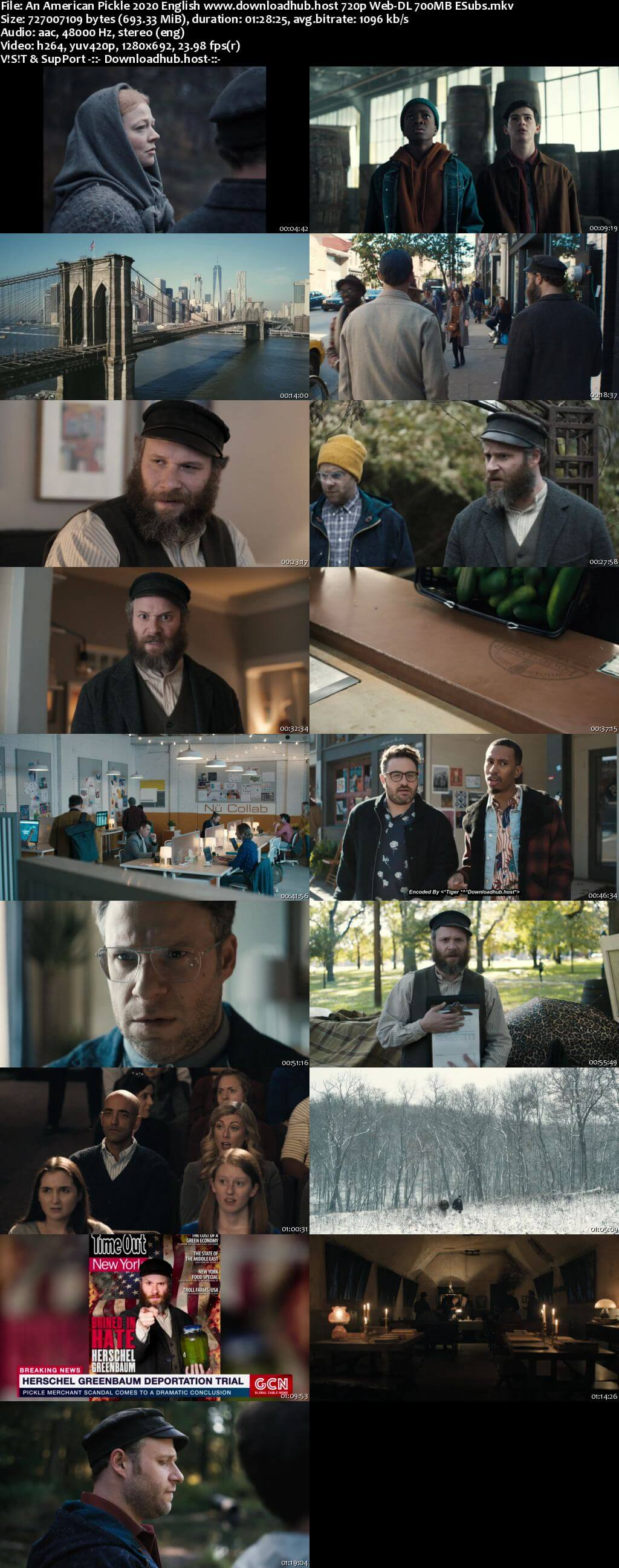 An American Pickle 2020 English 720p Web-DL 700MB ESubs