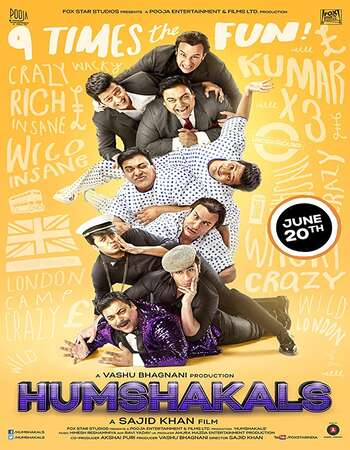 Humshakals 2014 Hindi 450MB BluRay 480p ESubs