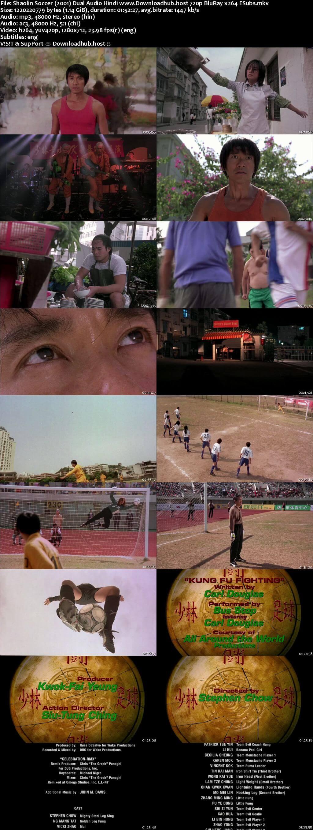 Shaolin Soccer 2001 Hindi Dual Audio 720p BluRay ESubs