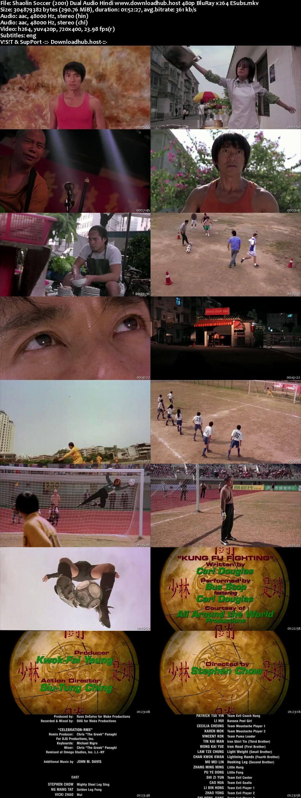 Shaolin Soccer 2001 Hindi Dual Audio 280MB BluRay 480p ESubs
