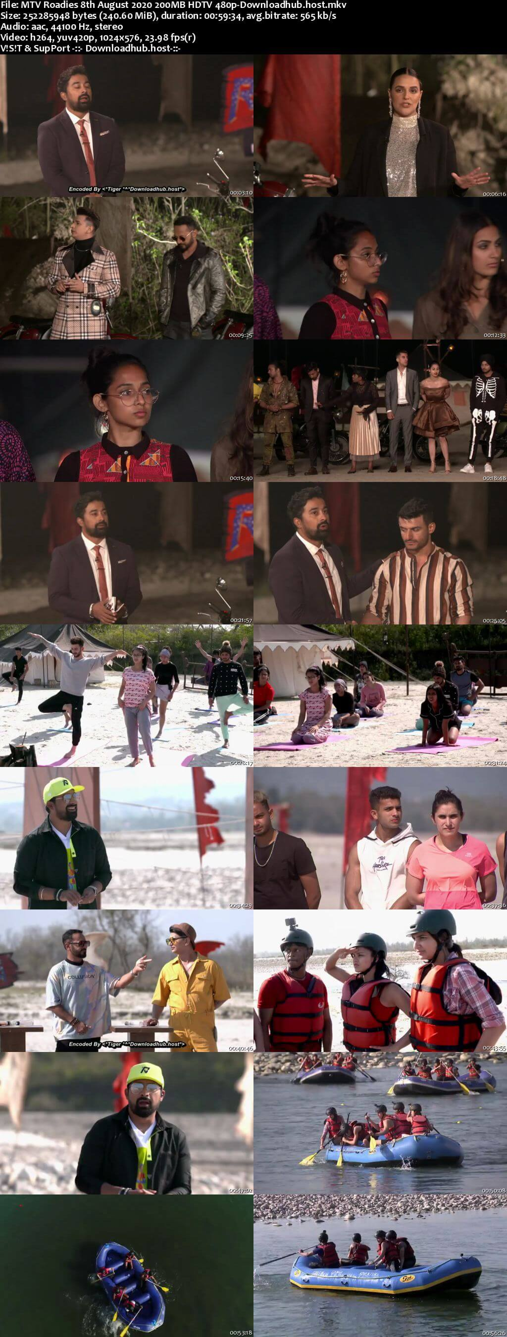 MTV Roadies 8th August 2020 200MB HDTV 480p
