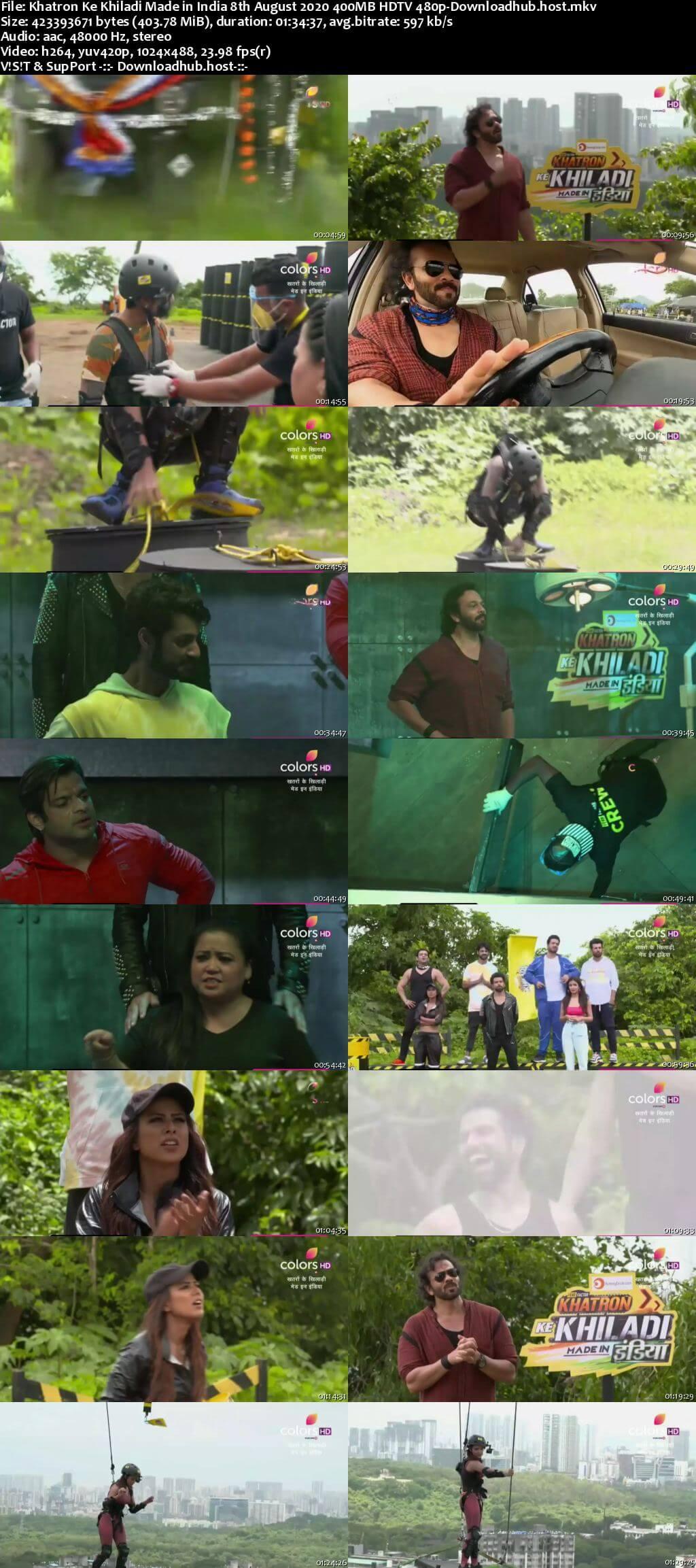 Khatron Ke Khiladi Made in India 08 August 2020 Episode 03 HDTV 480p