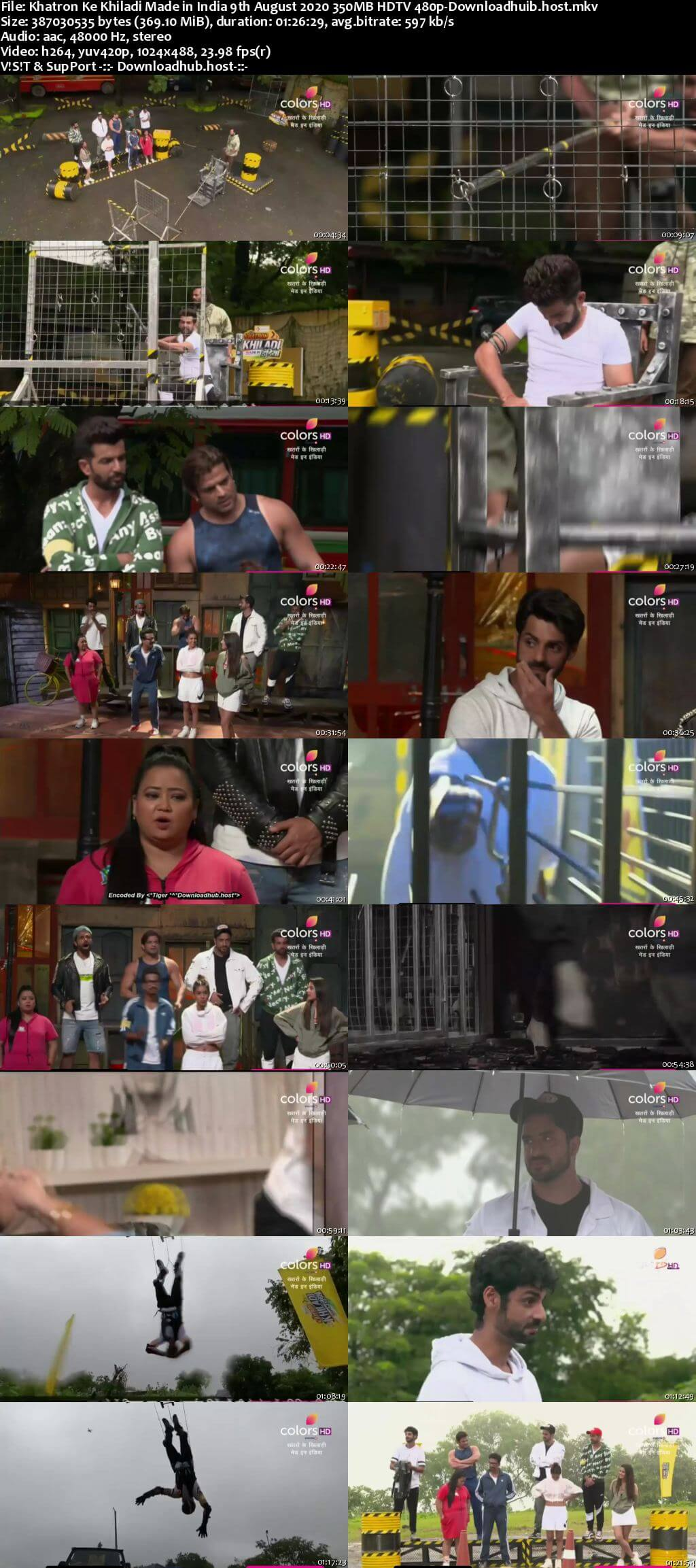 Khatron Ke Khiladi Made in India 09 August 2020 Episode 04 HDTV 480p