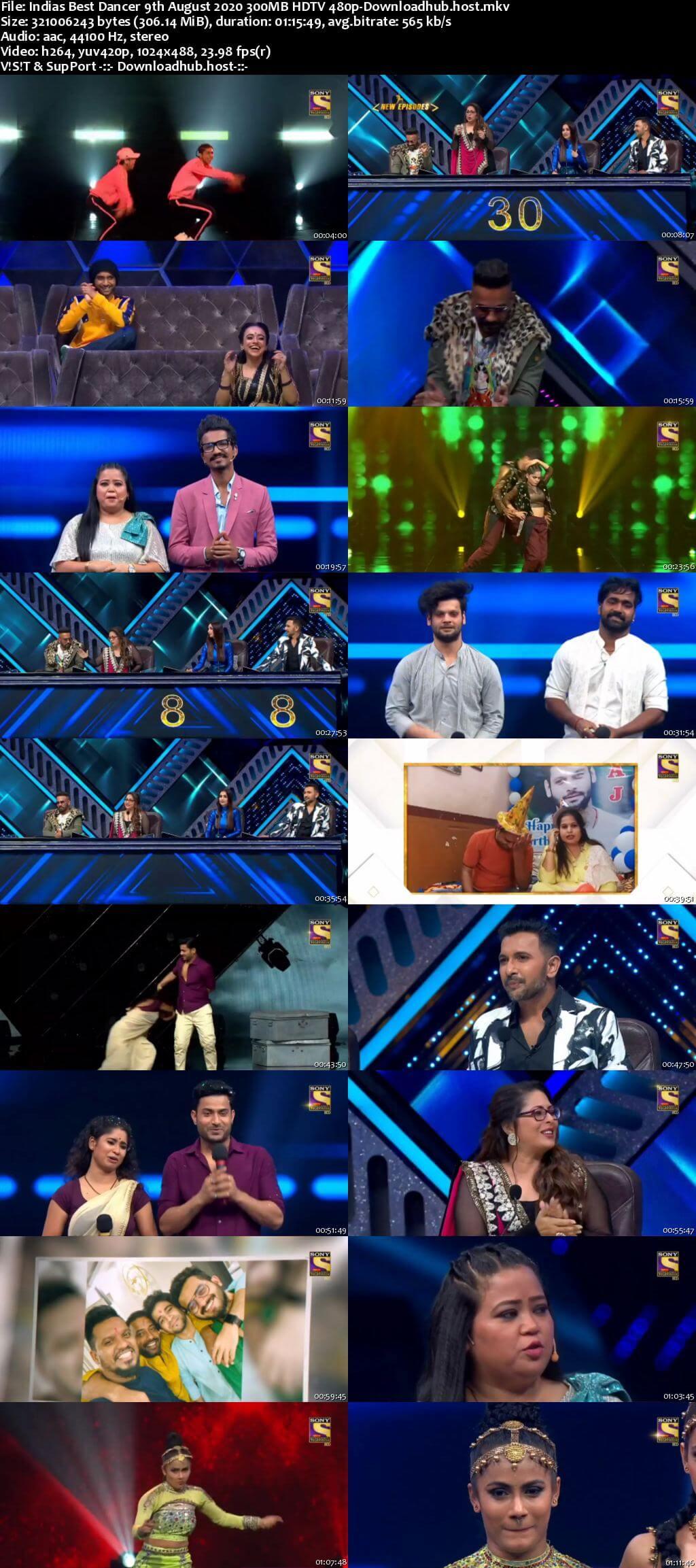 Indias Best Dancer 09 August 2020 Episode 18 HDTV 480p