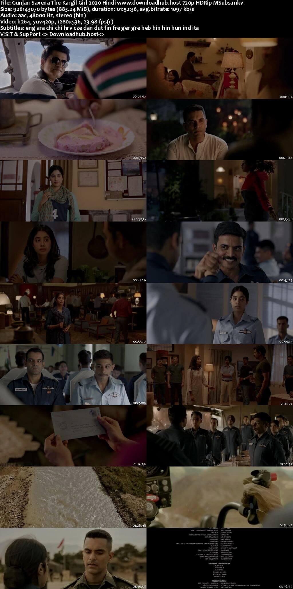 Gunjan Saxena The Kargil Girl 2020 Hindi 720p HDRip MSubs