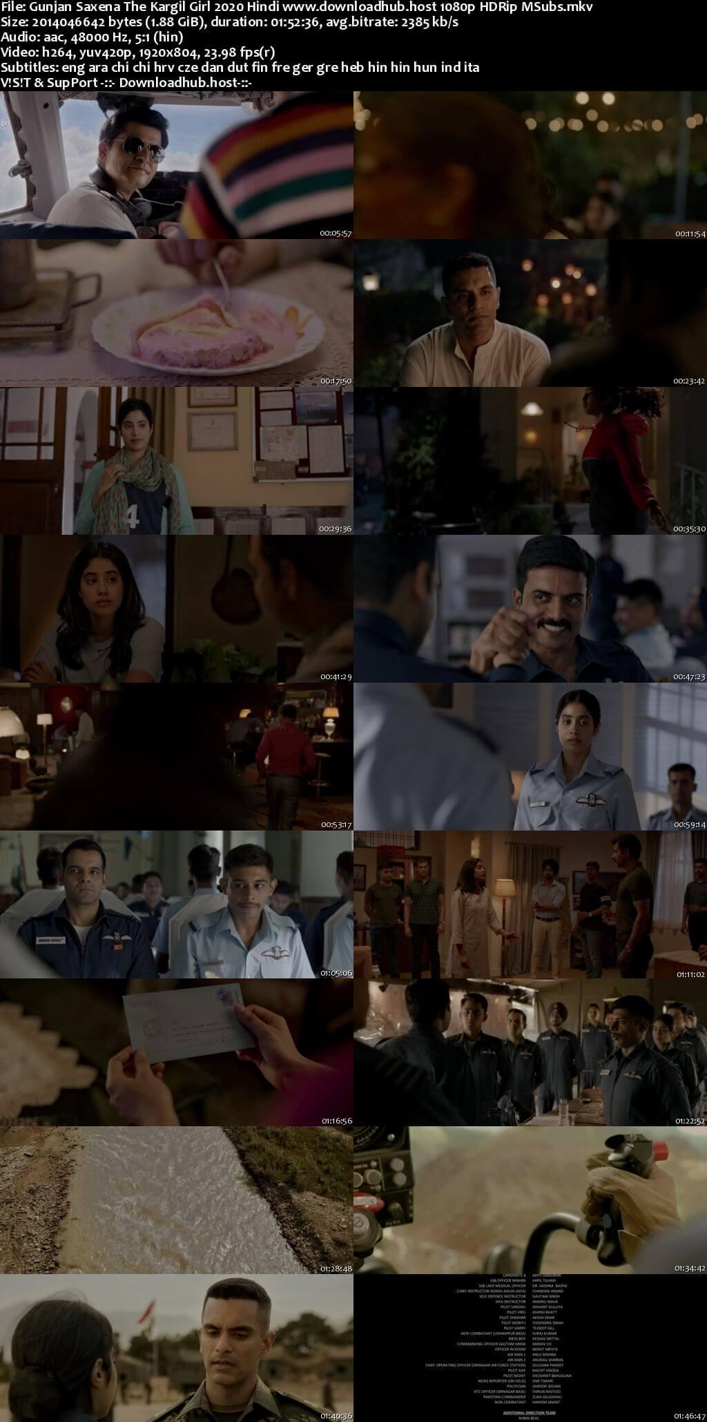 Gunjan Saxena The Kargil Girl 2020 Hindi 1080p HDRip MSubs