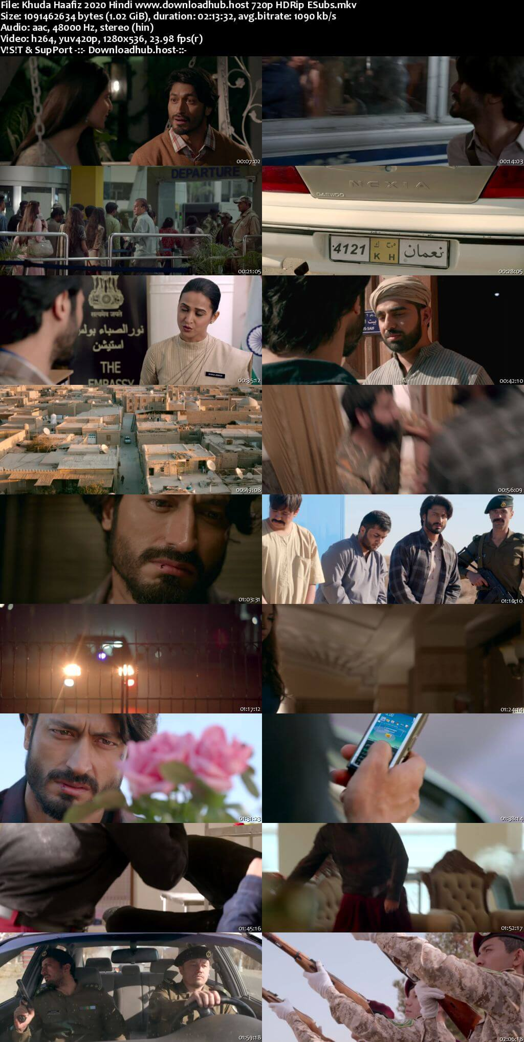 Khuda Haafiz 2020 Hindi 720p HDRip ESubs