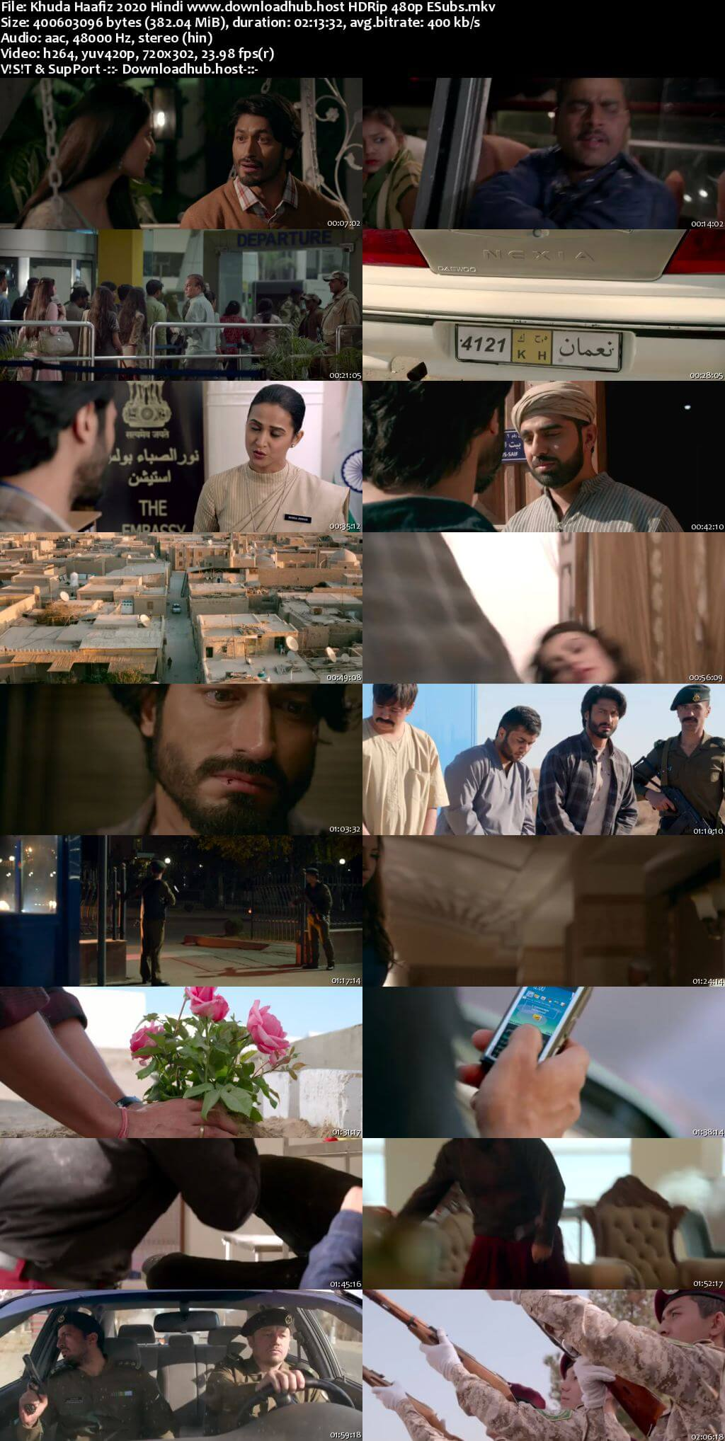 Khuda Haafiz 2020 Hindi 350MB HDRip 480p ESubs