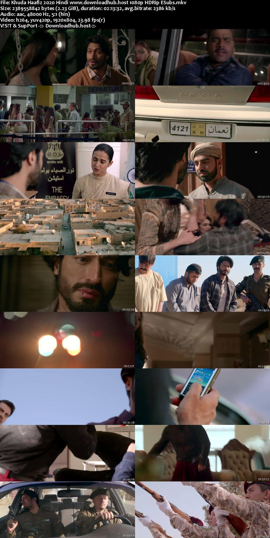 Khuda Haafiz 2020 Hindi 1080p HDRip ESubs