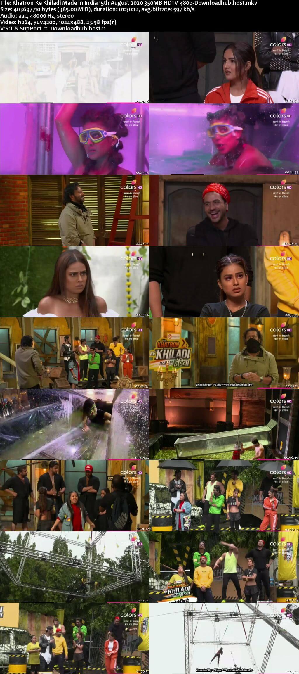 Khatron Ke Khiladi Made in India 15 August 2020 Episode 05 HDTV 480p