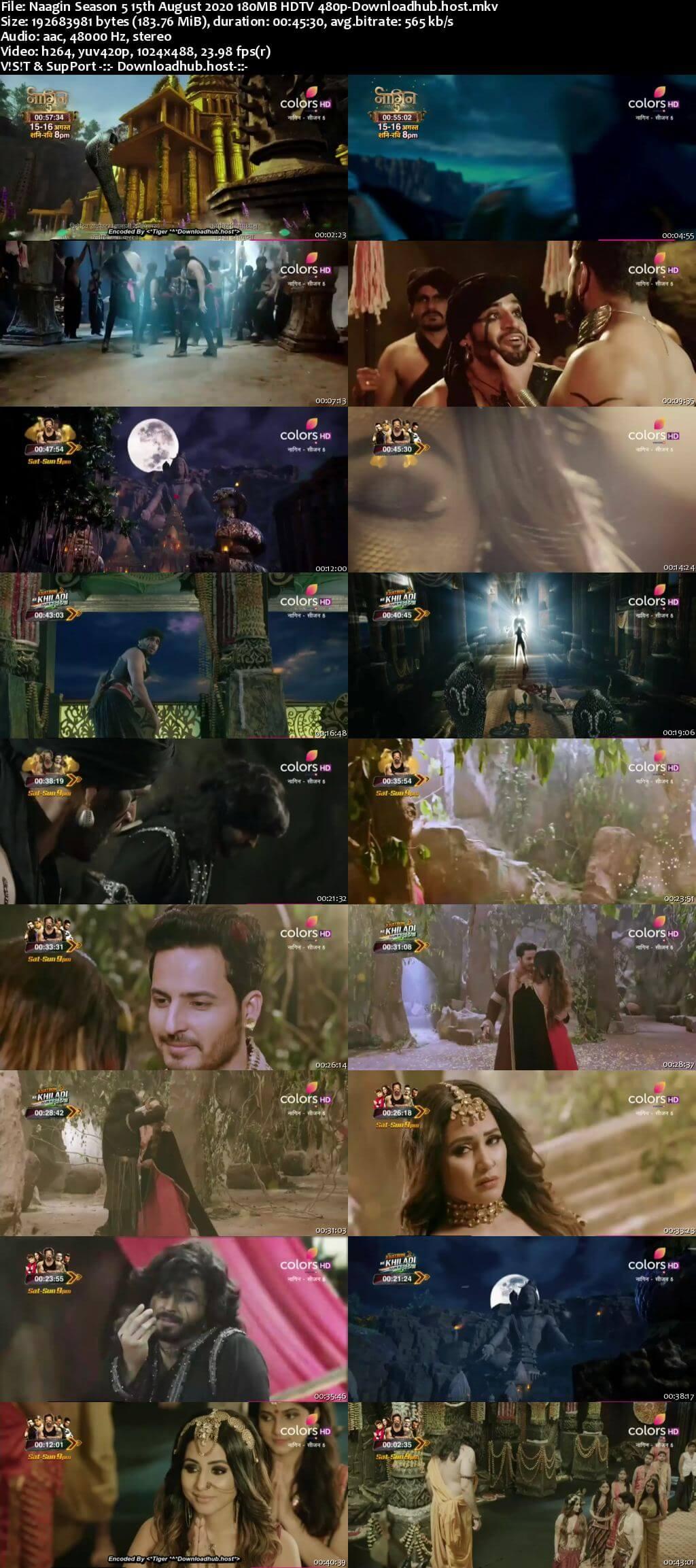 Naagin Season 5 15th August 2020 180MB HDTV 480p