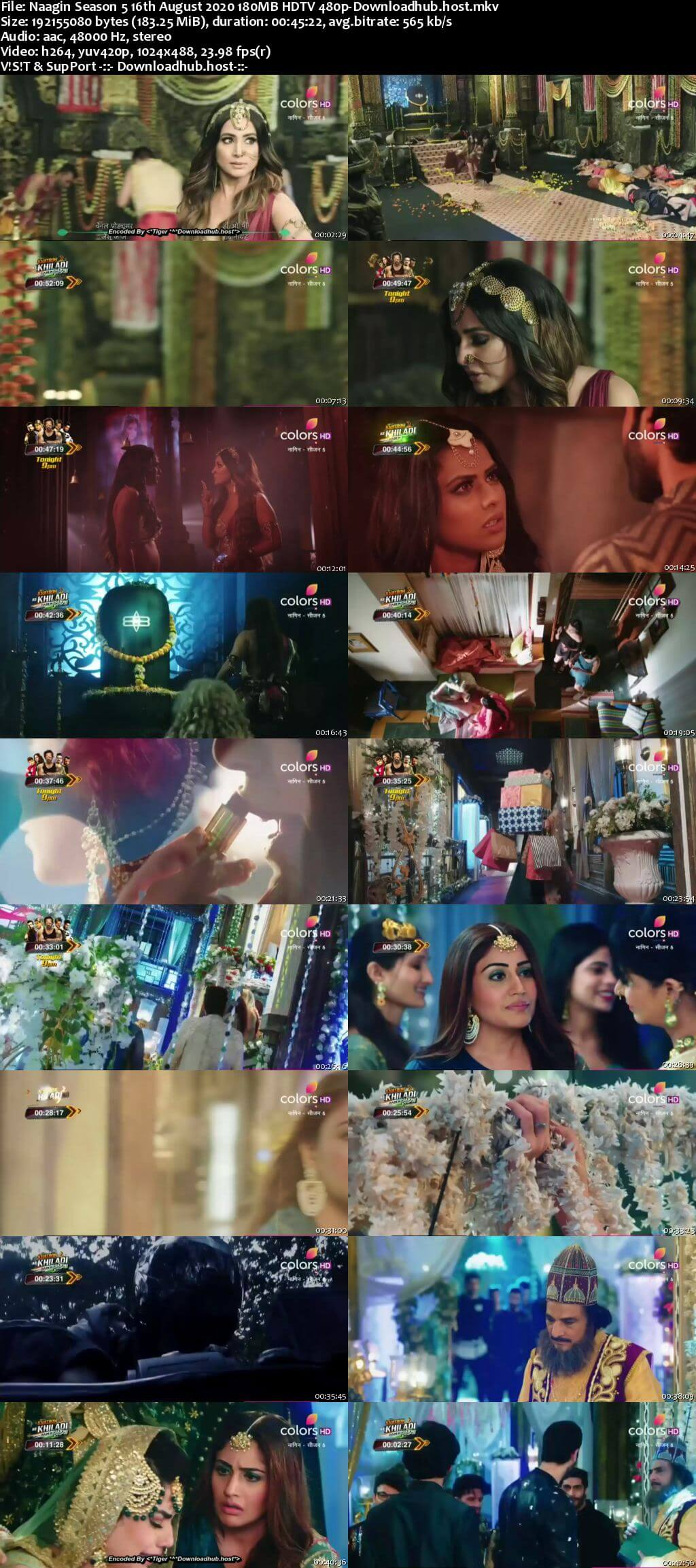 Naagin Season 5 16th August 2020 180MB HDTV 480p