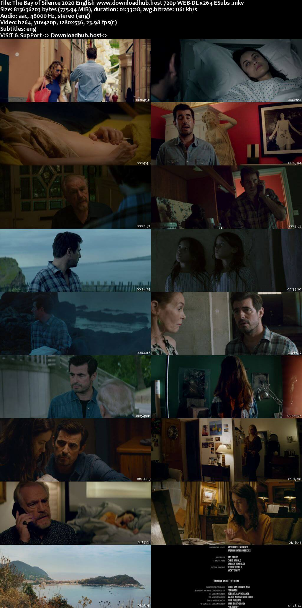 The Bay of Silence 2020 English 720p Web-DL 750MB ESubs