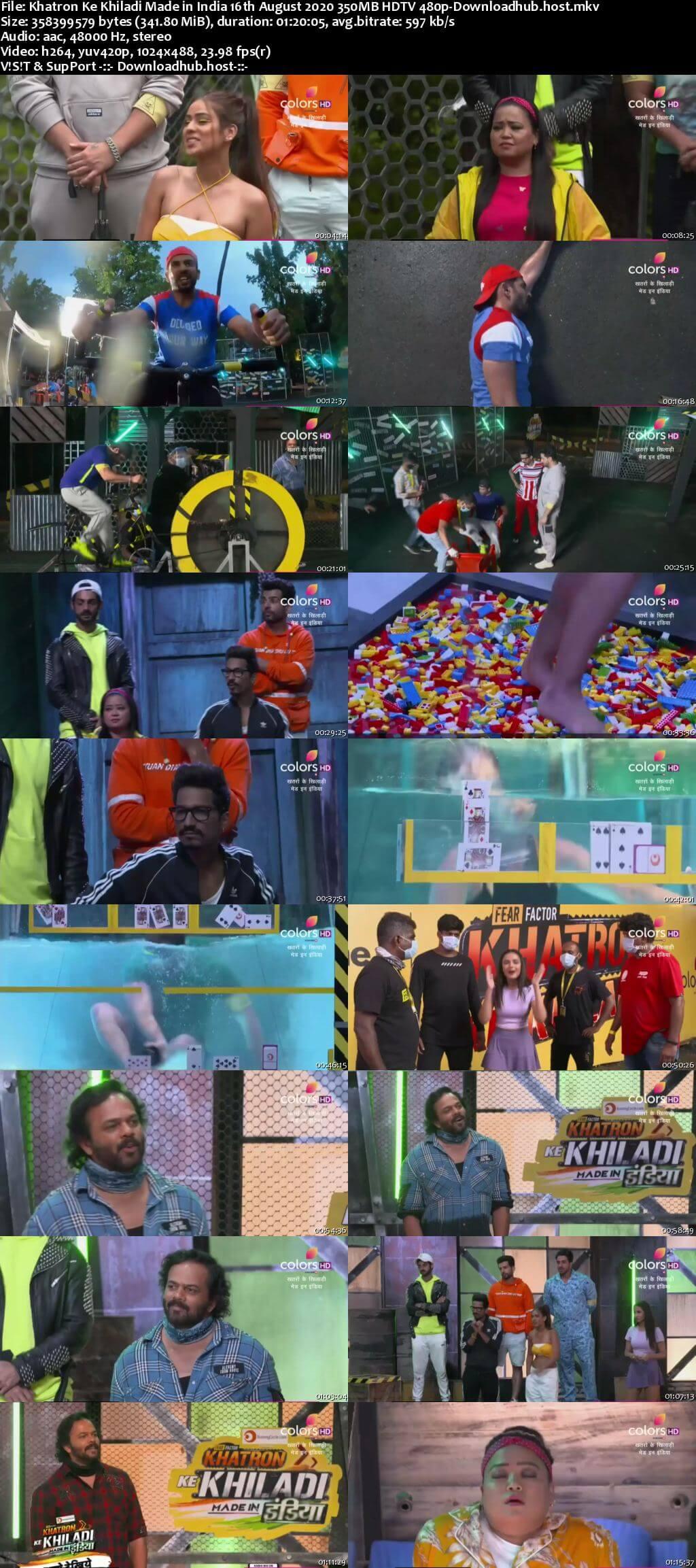Khatron Ke Khiladi Made in India 16 August 2020 Episode 06 HDTV 480p
