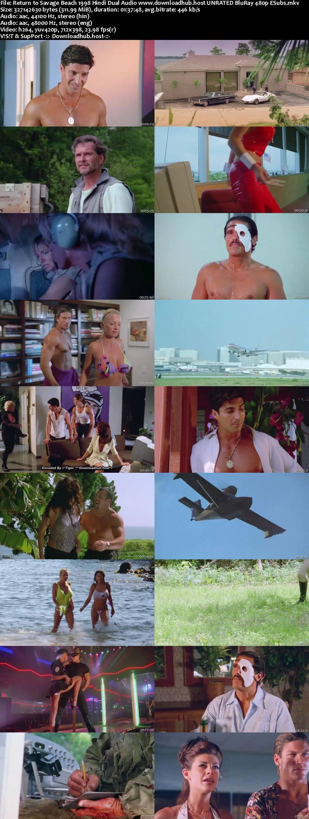 Return to Savage Beach 1998 Hindi Dual Audio 300MB UNRATED BluRay 480p ESubs