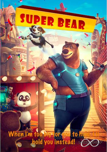 Super Bear 2019 Dual Audio Hindi 480p WEBRip 250mb