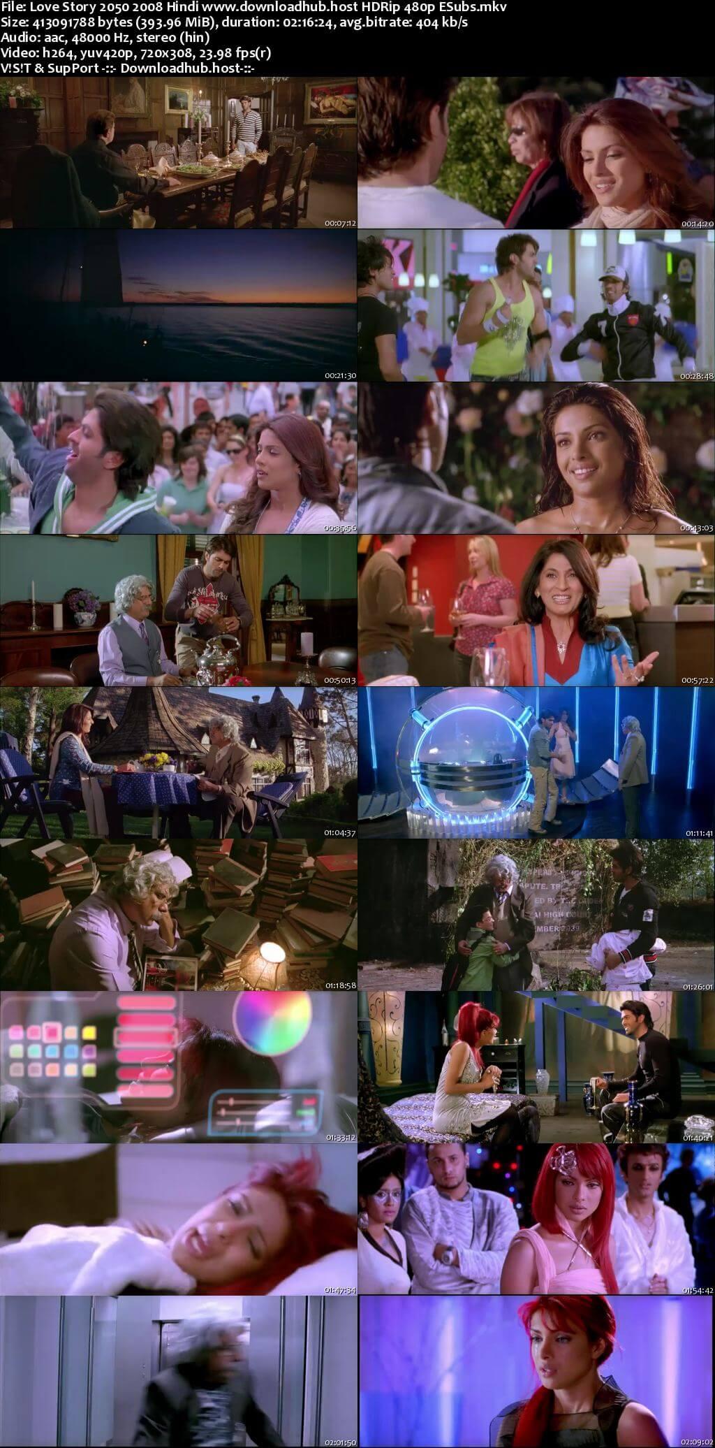 Love Story 2050 2008 Hindi 400MB HDRip 480p ESubs